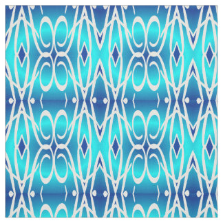 Cotton Fabric-Crafts-Pattern -Blue/Turquoise/White Fabric