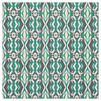 Cotton Fabric-Crafts-Pattern on Teal & White Fabric