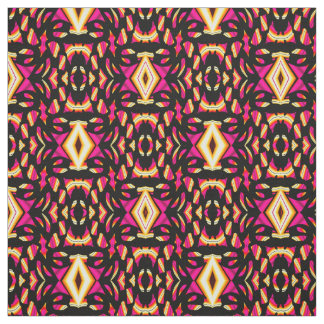 Cotton Fabric-Crafts-Pattern-Pink/Yellow/Red/Black Fabric
