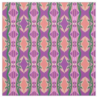 Cotton Fabric  -Crafts-Purple/Green/Lavender/Peach