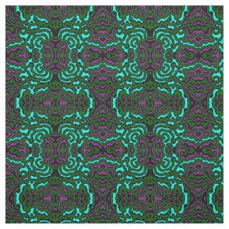 Cotton Fabric-Crafts-Purple/Green/Turquoise Fabric