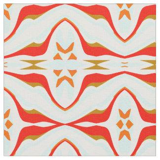 Cotton Fabric -Crafts-Red/Blue/White/Brown/Orange