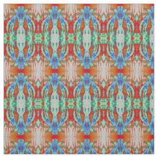 Cotton Fabric-Crafts-Red/Turquoise/Blue/White Fabric