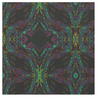 Cotton Fabric-Crafts-Stained Glass Pattern Fabric