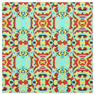 Cotton Fabric -Crafts -Turquoise,Red,Yellow,Black