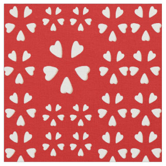 Cotton Fabric -Hearts Galore on Red & White-Crafts