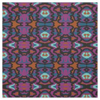 Cotton Fabric-Orange, Black, Purple,Turquoise,Teal Fabric