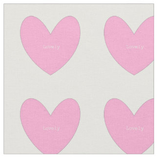 Cotton fabric with pink hearts
