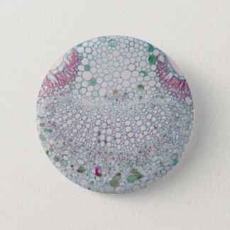 Cotton leaf under the microscope 2 inch round button