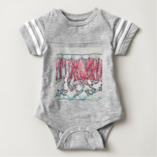 Cotton leaf under the microscope baby bodysuit