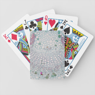 Cotton leaf under the microscope bicycle playing cards