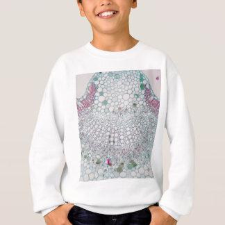 Cotton leaf under the microscope sweatshirt