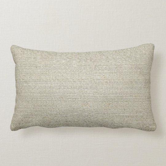Cotton Linen Background Lumbar Pillow