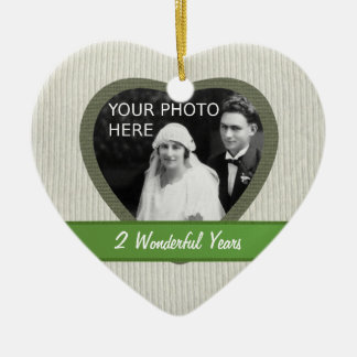 """Cotton"" Look 2nd Wedding Anniversary Ornament"