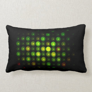 COTTON LUMBAR PILLOW BLACK W/STAINED GLASS PATTERN