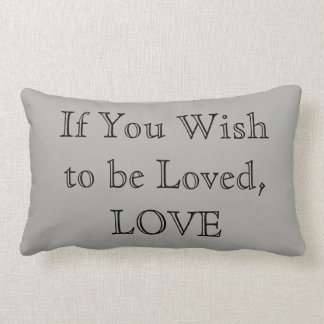 Cotton Lumbar pillow - Love