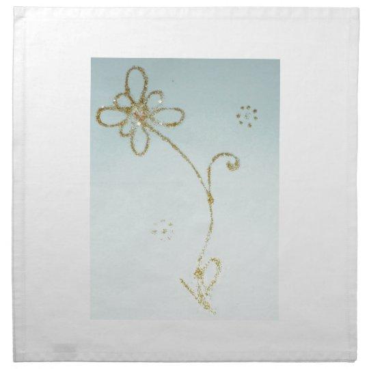 Cotton napkins with golden flower design