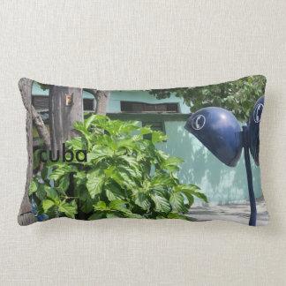 Cotton Print Design Cuban Retro Payphone Lumbar Pillow