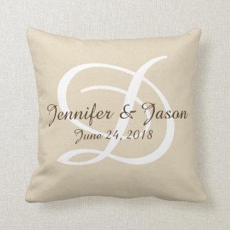 Cotton special event pilow monogram throw pillow