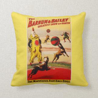 """COTTON Throw Pillow 16"""" x 16"""" BARNUM & BAILEY"""