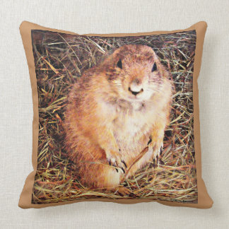 "Cotton Throw Pillow ""Chubby Gopher"""