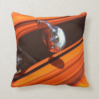 Cotton Throw Pillow, Classic Car Design Throw Pillow
