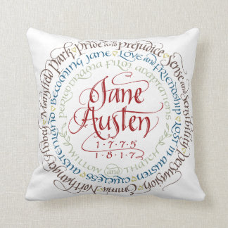 Cotton Throw Pillow - Jane Austen Period Dramas