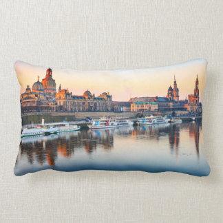 Cotton Throw Pillow, Lumbar Pillow Dresden
