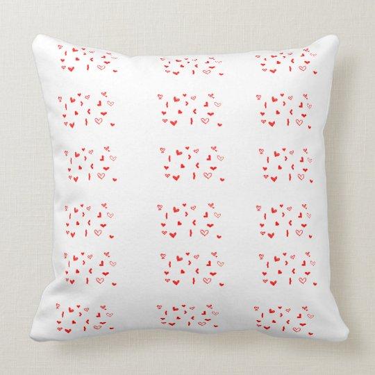 Cotton Throw Pillow, Throw Pillow hearts