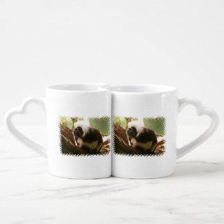 Cotton Topped Tamarin Monkey Coffee Mug Set