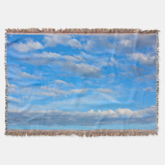 Cotton wool Clouds Throw Blanket
