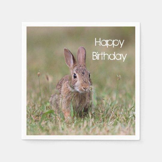 Cottontail Rabbit Disposable Napkin