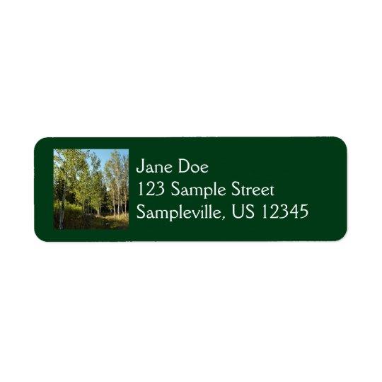 Cottonwoods Along Moose Ponds Trail at Grand Teton Return Address Label