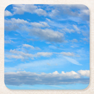 Cottonwool Clouds Square Paper Coaster