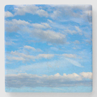 Cottonwool Clouds Stone Coaster