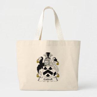 Cottrell Family Crest Jumbo Tote Bag