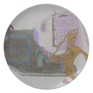 Couch and chair in the interior plate
