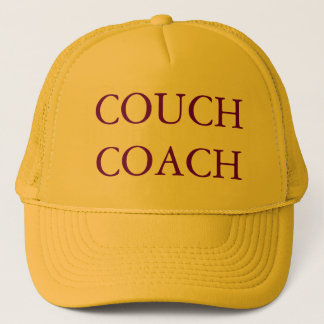 COUCH COACH Yellow and Purple Cap