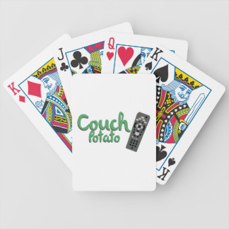 Couch Potato Bicycle Playing Cards