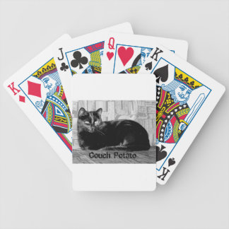 """Couch Potato"" Black Cat Bicycle Playing Cards"