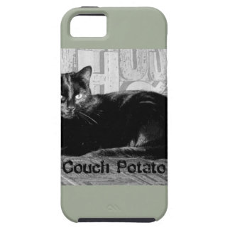 """Couch Potato"" Black Cat Case For The iPhone 5"