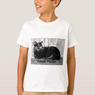 """""""Couch Potato"""" Black Cat T-Shirt"""