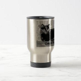 """Couch Potato"" Black Cat Travel Mug"