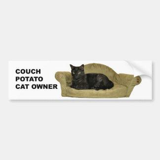Couch potato Cat bumper sticker