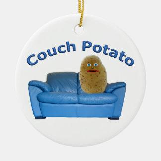 Couch Potato Ceramic Ornament