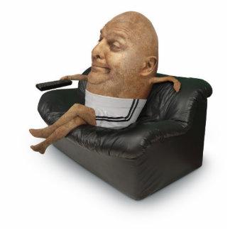 Couch Potato Paper Sculpture Standing Photo Sculpture