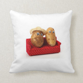 Couch potato throw pillow
