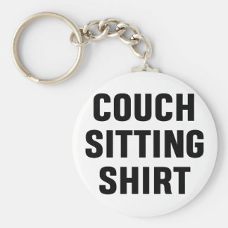 Couch Sitting Shirt Keychain