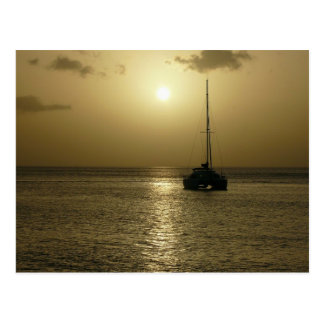 Coucher de Soleil (Sunset) - Martinique, FWI Postcard