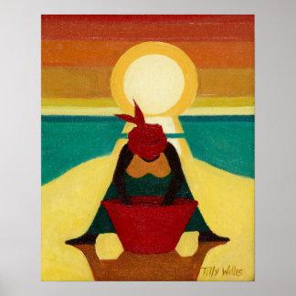 Coucher du soleil africain 2009 poster